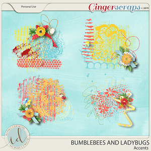Bumblebees And Ladybugs Accents by Ilonka's Designs