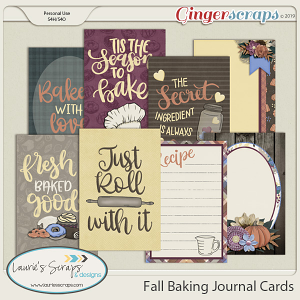 Fall Baking Journal Cards