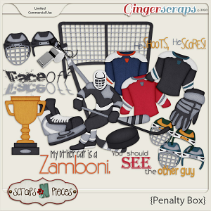 Penalty Box Themed Kit by Scraps N Pieces