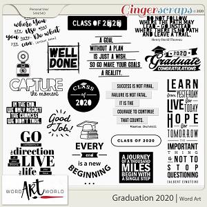Graduation 2020 Word Art