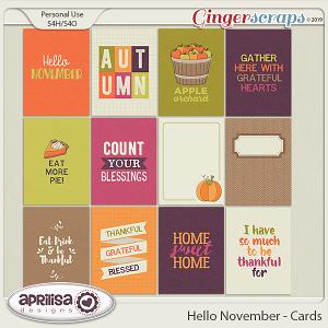 Hello November - Cards