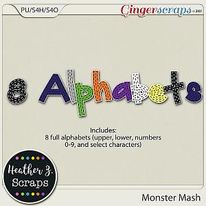 Monster Mash ALPHABETS by Heather Z Scraps