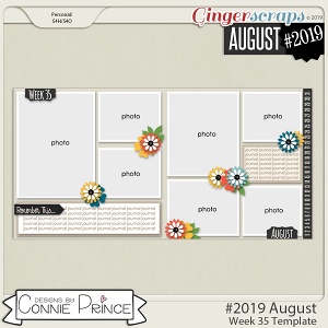 #2019 August - Week 35 Template Pack (CU Ok) by Connie Prince