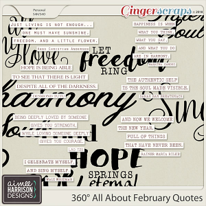 360°Life All About February Quotes by Aimee Harrison