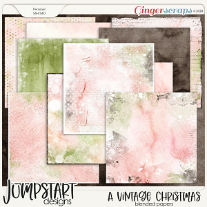 A Vintage Christmas {Blended Papers}