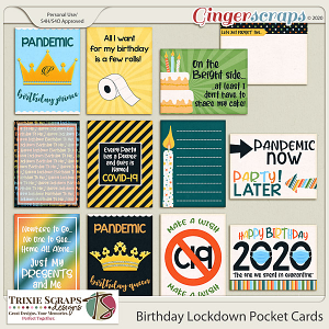 Birthday Lockdown Pocket Cards by Trixie Scraps Designs