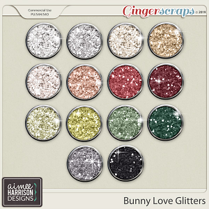 Bunny Love Glitters by Aimee Harrison