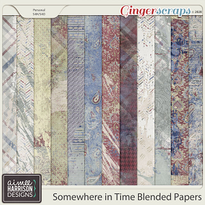 Somewhere in Time Blended Papers by Aimee Harrison