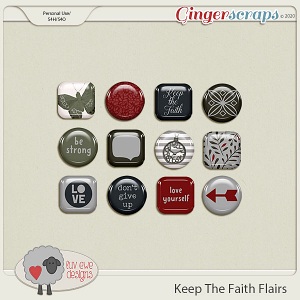Keep The Faith Flairs by Luv Ewe Designs