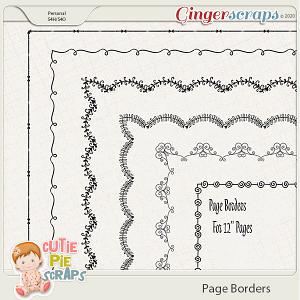 Page Borders 38 By Cutie Pie Scraps