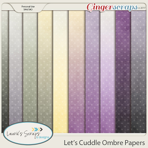 Let's Cuddle Ombre Papers
