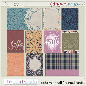 Bohemian Fall Journal Cards for Pocket Scrapbooking by Shepherd Studio