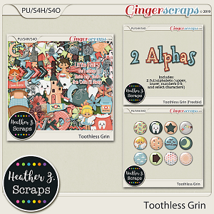 Toothless Grin BUNDLE by Heather Z Scraps