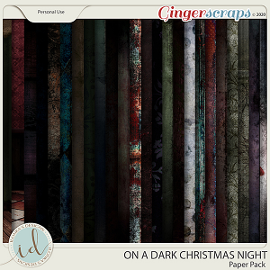 On A Dark Christmas Night Paper Pack by Ilonka's Designs