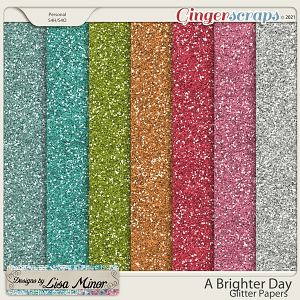 A Brighter Day Glitter Papers from Designs by Lisa Minor