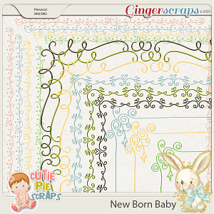 New Born Baby Page Borders