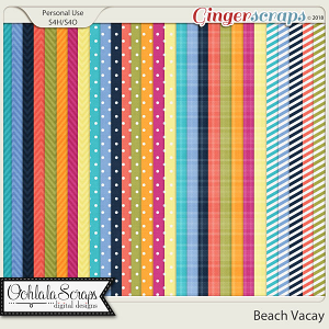 Beach Vacay Pattern Papers