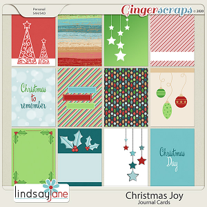 Christmas Joy Journal Cards by Lindsay Jane