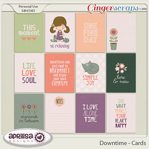 Downtime - Cards by Aprilisa Designs