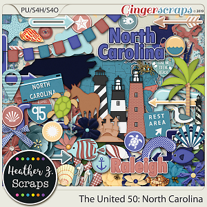 The United 50: North Carolina ELEMENTS by Heather Z Scraps
