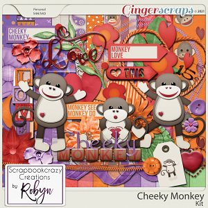 Cheeky Monkey Kit by Scrapbookcrazy Creations