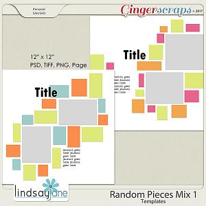 Random Pieces Mix 1 Templates by Lindsay Jane