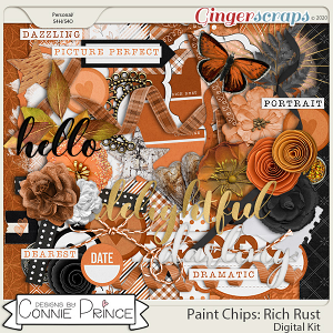 Paint Chips Rich Rust - Kit by Connie Prince