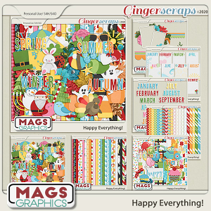 Happy Everything BUNDLE by MagsGraphics