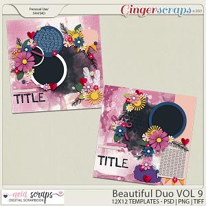 Beautiful Duo - Templates - VOL 9 - by Neia Scrap