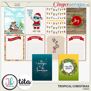 Tropical Christmas Cards by JB Studio and Tita