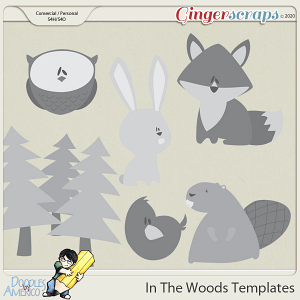 Doodles By Americo: In The Woods Templates