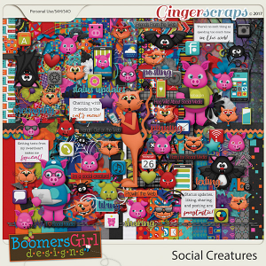 Social Creatures by BoomersGirl Designs