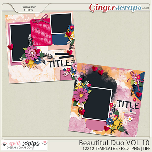 Beautiful Duo - Templates - VOL 10 - by Neia Scraps