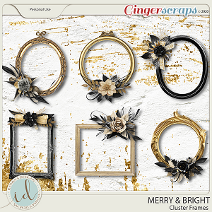 Merry & Bright Cluster Frames by Ilonka's Designs