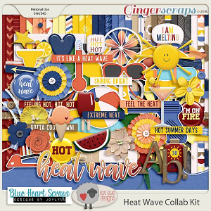 Heat Wave Kit by Luv Ewe Designs and Blue Heart Scraps