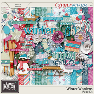 Winter Woolens Page Kit by Aimee Harrison