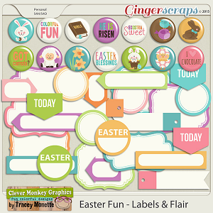 Easter Fun Flairs & Labels by Clever Monkey Graphics