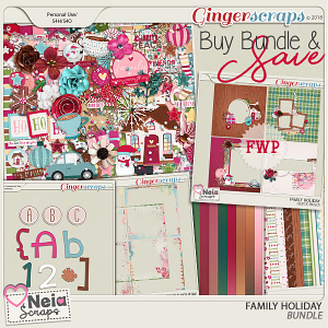 Family Holiday - Bundle - By Neia Scraps