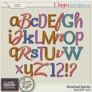 Kindred Spirits Alpha Sets by Aimee Harrison and Chere Kaye Designs