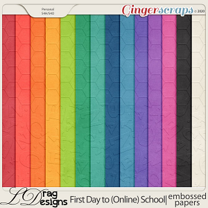 First Day To (Online) School: Embossed Papers by LDragDesigns