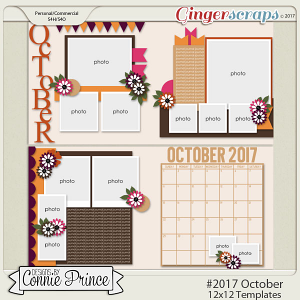 #2017 October - 12x12 Template Pack (CU Ok)