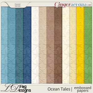 Ocean Tales: Embossed Papers by LDragDesigns