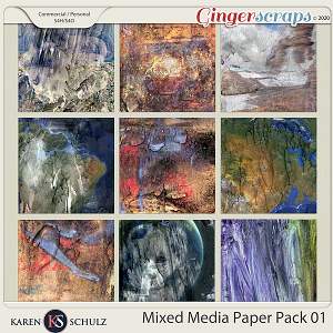 Mixed Media Paper Pack 01 by Karen Schulz