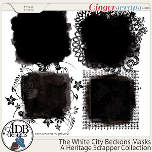 The White City Beckons Masks by ADB Designs