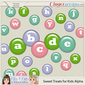 Sweet Treats Candy Bits Alpha by K4K