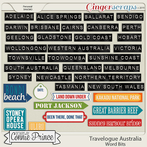 Travelogue Australia - Word Bits
