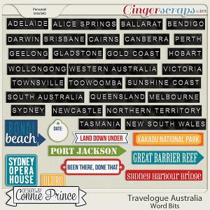 Travelogue Australia - Word Bits