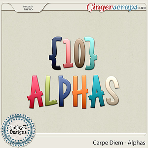 Carpe Diem - Alphas by CathyK Designs