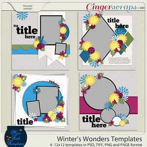 Winters Wonders Templates by Miss Fish