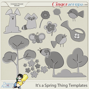 Doodles By Americo: It's a Spring Thing Templates